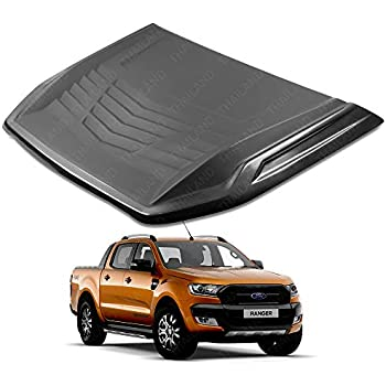 Powerwarauto Front Matte Black Turbo Scoop Fake Cover For Ford Ranger Facelift Px2 Mk2 Wildtrak 2WD 4WD 2016 2017 2018 UTE Pick-Up
