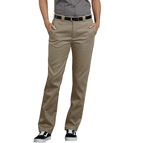 Dickies Women's Flex Slim Fit Work Pants, Desert Sand, 12 ()