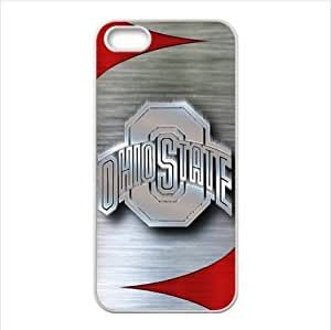 iPhone 5 & 5s Case - NCAA Ohio State Buckeyes Logo Accessories Apple iPhone 5 & 5s Waterproof TPU Back Cases Covers