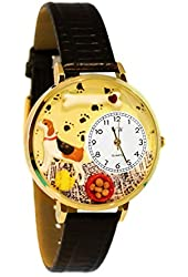 Whimsical Unisex Beagle Black Skin Leather Watch7