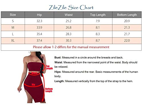 Black Lace Piece ZileZile Bodycon Dress Sexy Women's Mini 2 Club up Set Slit Backless Tube xHHpY6wtBq