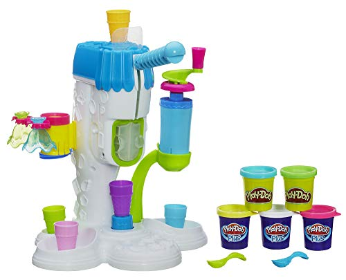 Play-Doh Perfect Twist Ice Cream Toy with 5 Non-Toxic Colors Including 3 Play-Doh Plus Cans (Play Doh Perfect Twist Ice Cream Set)