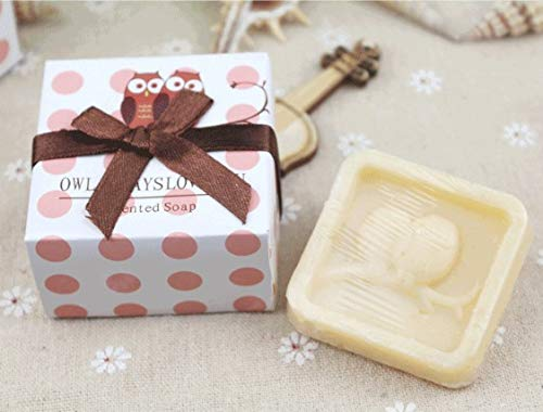 12pcs Artistic Scented Owl Soap for Wedding Favors Gifts or Baby Shower Soap