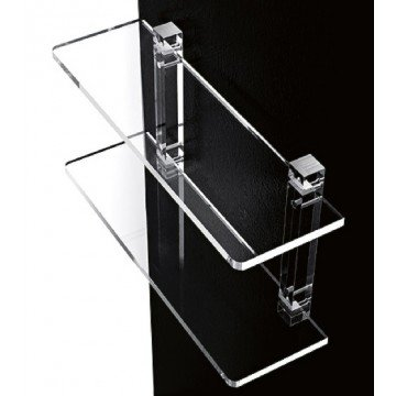 Mensole da bagno in plexiglass con supporti trasparenti mensola ...