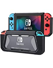 Case for Nintendo Switch, Tendak Slim Rubberized Hard Protective Grip Case Cover for Nintendo Switch 2017 Release (Black)