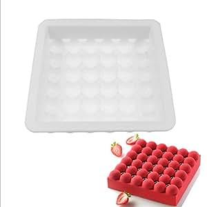 lxz Fai Da Te 36con un pequeño molde redondo molde de silicona Mousse de forma de moho Encaje suave Tarta decorativa polímero arcilla