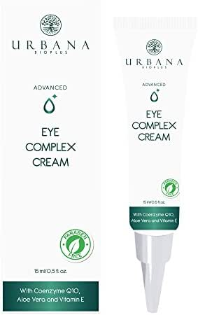 URBANA BIOPLUS Advanced Care Eye Complex Cream, Face Facial Intensive Contour Treatment Vitamin E Aloe Vera Hydrating Repair Firming Lifting Anti Aging Wrinkle Dark Circle Puffiness, 15 ml / 0.5 fl oz