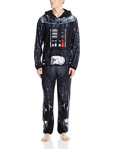 Star Wars Men's Darth Vader Uniform Union Suit, Black, M