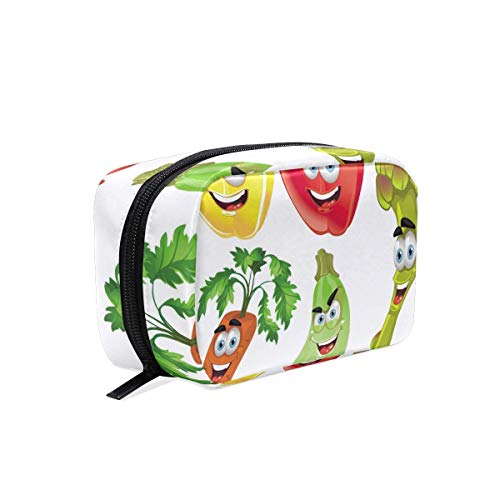 Funky Cosmetic Bag Cute Fruits And Vegetables Girls Makeup Organizer Box Lazy Toiletry Case
