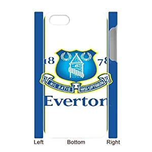 Printed Cover Protector iphone4 4S 3D Cell Phone Case White Everton Wmenc Unique Design Cases