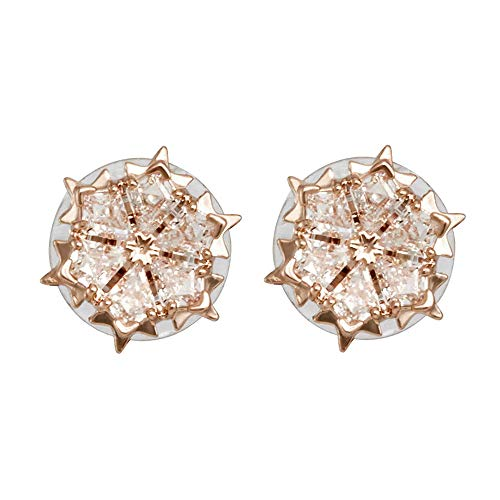 - Swarovski Crystal Magic White Rose Gold-Plated Stud Earrings