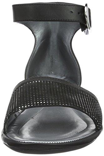 Rohde Damen Prag Knöchelriemchen Schwarz (90 schwarz)