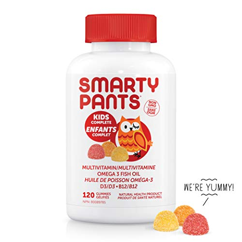SmartyPants Kids Complete Delicious Multivitamins Gummies for Kids, 1 Pound 120 Count