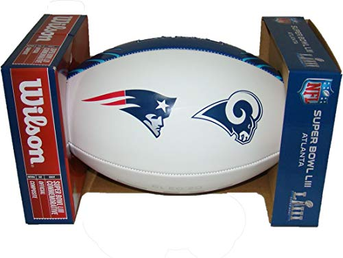 (NFL Official Super Bowl 53 LIII Commemorative Dueling Red White & Blue Full Size Football)