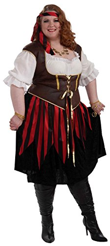 [Forum Novelties Women's Pirate Lady Costume, Multi, 3X] (Full Pirate Costumes)
