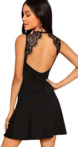 SheIn Sleeveless Applique Cocktail Backless product image