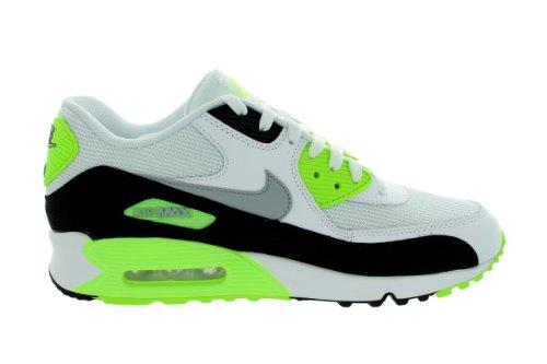 Nike Herre Air Max 90 Væsentligt Hvid / Flash Lime / Sort / Ulv Grå 537.384-103 Hvid / Flash Lime / Sort / Ulv Grå XG5HKtt