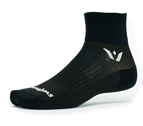 Swiftwick Performance Two inch Cuff Socks, Black, Large