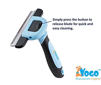 {TODAY SPECIAL} Pet Grooming Deshedding Tool for Dogs and Cats, Reduces Shedding by 90% Instantly. Dog Brush is Great For Long, Medium or Short Hair. VeterinarIan Approved! Eliminate Those Messy Hairballs From Your Floor Now! Makes Great Stocking Stuffers