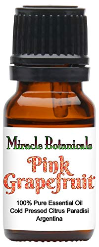 Miracle Botanicals Pink Grapefruit Essential Oil - 100% Pure Citrus Paradisi - 10ml, 30ml or 60ml Sizes - Therapeutic Grade - 10ml