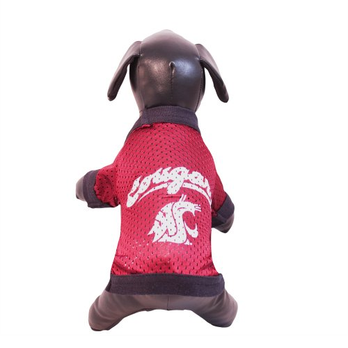 (NCAA Washington State Cougars Athletic Mesh Dog Jersey (Team Color, Small))