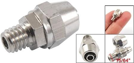 2 piezas 0,64 cm rosca macho a 6 mm conector codo accesorios neum/ático