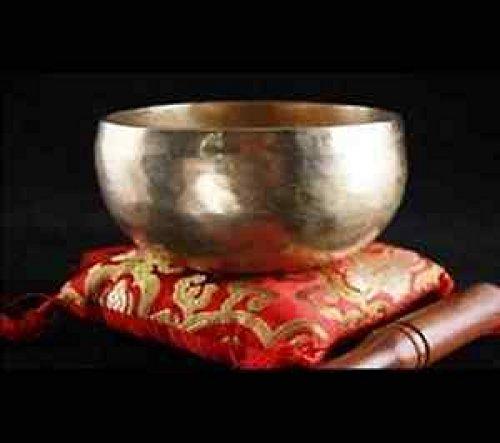 Chö-pa Klangschale handgehämmert ca. 1000 gr. - Nepal 1 kg mit Holzklöppel