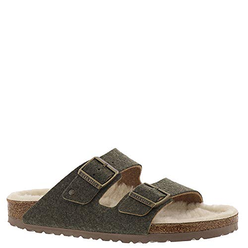 Birkenstock Arizona Happy Lamb Women's Sandal 42 N EU Khaki ()