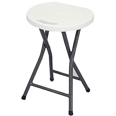 stool Sgabello Pieghevole in plastica Sgabello Alto Semplice Sgabello Portatile Moda Panca Piccola (Colore: Bianco, Arancione, Giallo) WU LAI BAI HUO