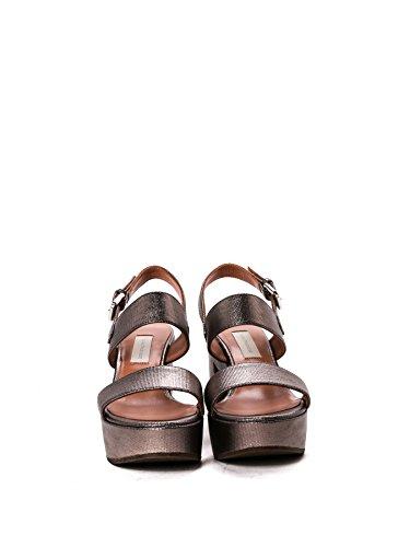 L'autre Chose Mujer LD245690GP22741002 Gris Cuero Sandalias