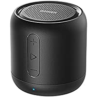 Anker SoundCore Super-Portable Rechargeable Bluetooth Wireless Speaker with 15-Hour Playtime, 66-Foot Range, Enhanced Bass and Noise-Cancelling Microphone, Black (Non-Retail Packaging)
