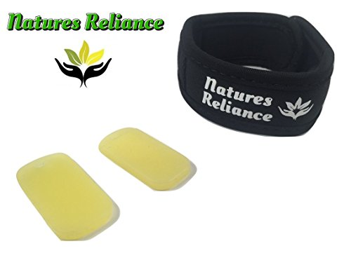 Mosquito Repellent Bracelet New From Natures Reliance   All Natural Unique Oil Combo That Works    Cdc Approved Oil Of Lemon Eucalyptus   Adjustable Wristband Bracelet For Adults   Kids   2X Refills