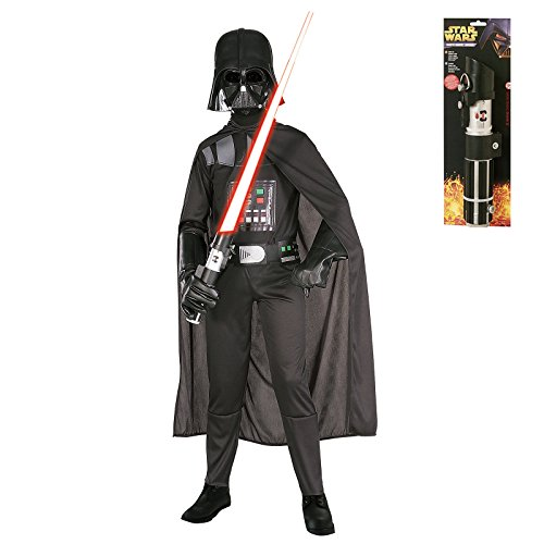 Star Wars Darth Vader Costume Accessory Kit (Kid's Darth Vader Star Wars Premium Costume with Lightsaber -Small)