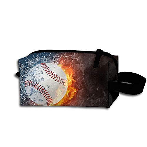 It Avon The Bag (FANRENYOU Makeup Cosmetic Bag Baseball Zip Travel Portable Storage Pouch For Men Women White-One Size)