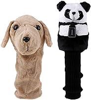lahomia 2 Pieces Animal Panda & Dog Golf Club Headcover for 460 Cc/