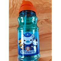 Octonauts Blue Plastic Drink Water Bottle Screw Top Pop Up Straw