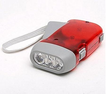 3 LED Dynamo Wind Up Flashlight Torch Light Hand Press Crank NR Camping P2