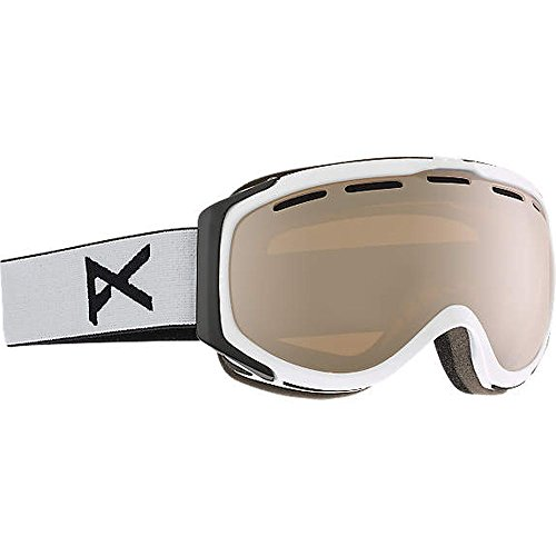 Anon Hawkeye Snow Goggles White with Silver Amber & Amber Lens Anon Hawkeye Snow Goggles