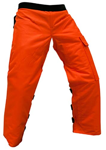 Forester Chainsaw Apron Chaps with Pocket, Orange...