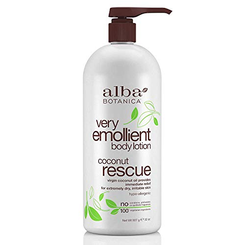Alba Botanica Very Emollient Body Lotion, Coconut Rescue, 32 Oz