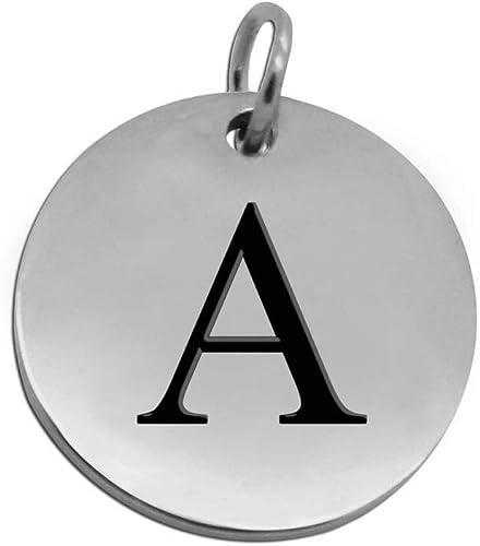 1 Edelstahl Charm Anhänger Kettenhänger ohne Kette Buchstaben D