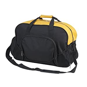 Blank Duffle Bag Deluxe Gym Duffel Bag in Gold and Black