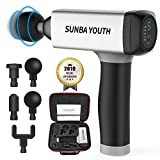 SUNBA YOUTH Carrying Case Massage Gun,Rechargeable Cordless Percussion Massager,Handheld Deep Tissue...