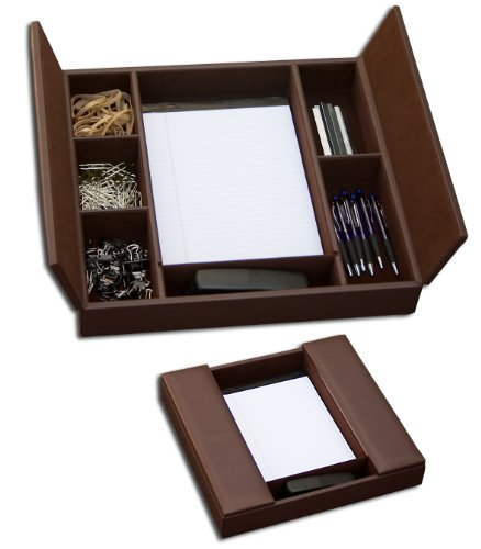 Dacasso Classic Chocolate Brown Leather Enhanced Conference Room Organizer (Leather Conference Room Organizer)