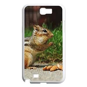 Samsung Galaxy N2 7100 Cell Phone Case White Chipmunk Eating Surprised Nature Animal OJ393658