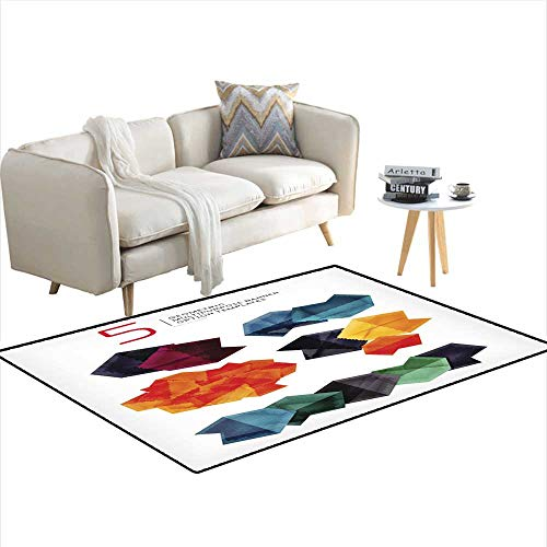 Kids Carpet Playmat Rug Geometric Shaped Option Banners Collection 4'x19'