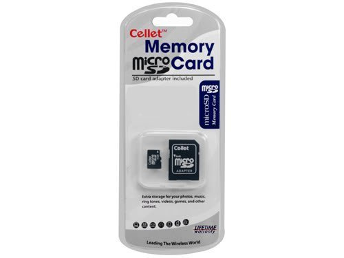 Cellet 4GB MicroSD for Motorola RAZR D1 Smartphone custom flash memory, high-speed transmission, plug and play, with Full Size SD Adapter. (Retail Packaging)