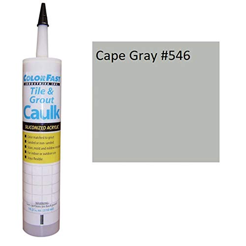 Color Fast Caulk Matched to Custom Building Products (Cape Gray Sanded)