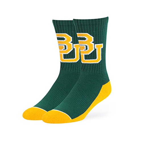 Basketball Ncaa Baylor Bears (OTS NCAA Baylor Bears Anthem Sport Socks, Large, Dark Green)