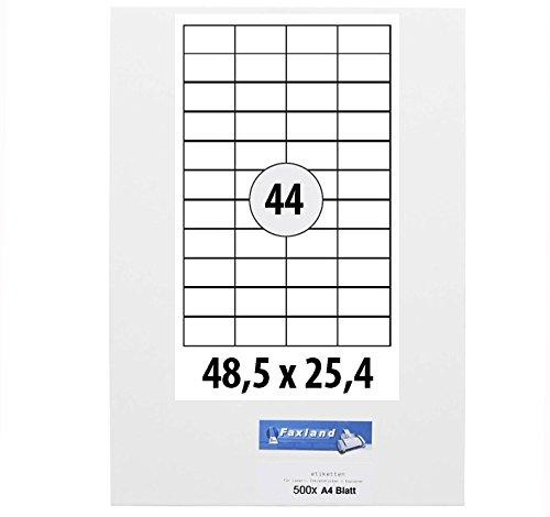 48 Versand44x 25 für Etiketten 5 500x FBA x mm Bögen A4 4 k8PXnO0w